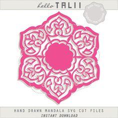 MANO el MANDALA dibujado SVG cortar archivos + DXF + STUDIO3 + PNG Embellishtment Mandala, India flor plantilla, conjunto de 4 archivos de corte. SVG, DXF, Studio3, + PNG clip archivos de arte, para básica y edición de diseño de la silueta, para la Cricut y seguro un software mucho. Esto