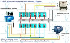 3 phase manual changeover switch wiring diagram generator rh pinterest com RTS Transfer Switch Wiring Diagram Onan Transfer Switch Wiring Diagram