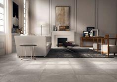 concrete look porcelain tile Docks Warm 600x600mm