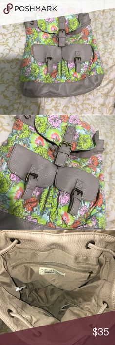 Brand new floral backpack Brand new. Floral design. No tags, but i dont remember ever wearing it. Brand new condition. Great gift & great for school or shopping! Even as a carry on for a flight! Bags Backpacks