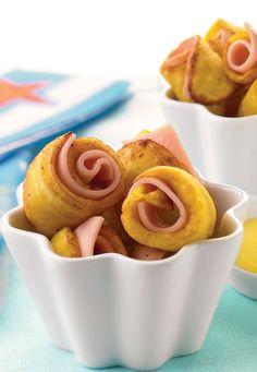 Platanitos con jamón... Perfectos para el lunch de los pequeños
