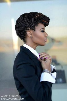 You must try this style if you get box braids