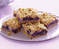 Blueberry Streusel Bars with Lemon-Cream Filling by Fine Cooking. Always a hit at summer picnics, these addictive squares strike the perfect balance between tart and sweet and chewy and crunchy.