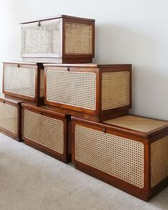 Linen chests by Pierre Jeanneret for Chandigarh, c. Cane Furniture, Indian Furniture, Vintage Furniture, Furniture Design, Pierre Jeanneret, Chandigarh, Hm Home, Interior Decorating, Interior Design