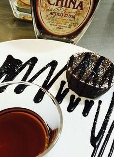 In Lunigiana non ci facciamo mancare niente, tortino al cioccolato e antico elixir china Clementi