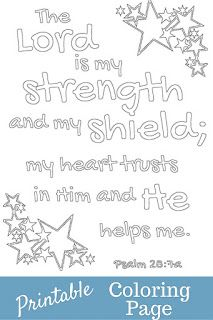 Printable coloring page . This is the verse my sponsored child shared with me last month so I made it into a coloring page.