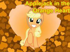 Applejack in the Orange Heart