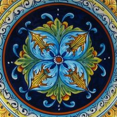 Boho Gypsy Glam ~ Deruta Italian Pottery http://www.homeinitaly.com/