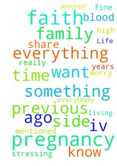 Life/Family/Pregnancy -  I would like to thank everybody that took their time to read my previous request and pray for it. It really works, i have more faith than ever. This worked years ago and did again. Im basically living thru faith, something i should of start doing long time ago... i wanted to share worries that i have, my previous pregnancy was completely normal, everything went fine thank God. Now im 15 weeks pregnant and i have high blood pressure, something iv never had, iv been…