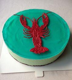 """Crab"" mintliqueur cake for autumn's celebration."