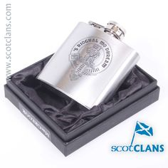 MacGregor Clan Crest Hip Flask. Free Worldwide Shipping Available