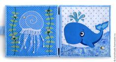 """Купить Развивающая книжка """"В океане"""" - развивающая игрушка, развивающая книжка, развивающие книжки, развивайка"""