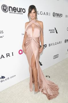 LOS ANGELES, CA - FEBRUARY 26:  Model Alessandra Ambrosio attends Bulgari at the 25th Annual Elton John AIDS Foundation's Academy Awards Viewing Party at  on February 26, 2017 in Los Angeles, California.  (Photo by Venturelli/Getty Images for BVLGARI) via @AOL_Lifestyle Read more: https://www.aol.com/article/entertainment/2017/02/26/elton-johns-oscars-viewing-party-red-carpet-arrivals/21722279/?a_dgi=aolshare_pinterest#fullscreen