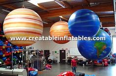 Giant Inflatable planets globes for sale or rental