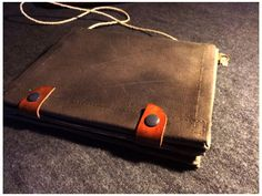 Vintage Army reconditioned canvas and leather map case