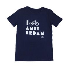 I Bike Amsterdam Dark Blue Men T-shirt
