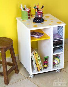 Tutorial Vila do Artesão - Como reformar um móvel com pintura