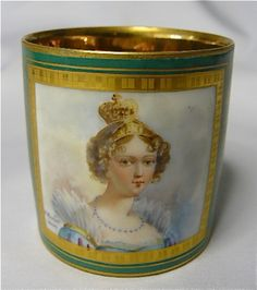 Cup and saucers -Hortense Eugenie Cecile de Beauharnais Queen of Holland Mother of Napoleon the third 1806-1810