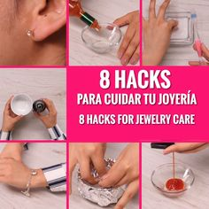 Tips for cleaning jewelry - We generally believe that maintaining our jewelry accessories in good condition is a great effort a - Custom Jewelry, Diy Jewelry, Jewelry Accessories, Jewelry Making, Homemade Jewelry Cleaner, Life Hacks, Bijoux Fil Aluminium, Diy Cleaners, Custom Labels