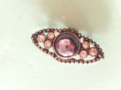 Elegant crystal brooch / pin / clip vintage by yorkshiretreasure