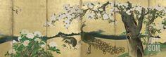 Cherry Blossoms and Peacocks Art Print by Kano Sansetsu at Art.co.uk