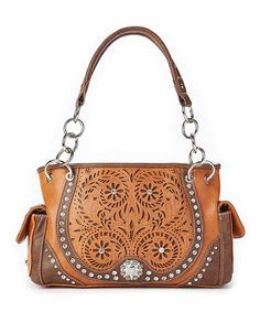 Montana West Brown Horseshoe Cutout Tote by Montana West #zulily #zulilyfinds