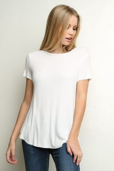 Brandy ♥ Melville   Clara Top - Clothing Belmont, Brandy Love, Brandy Melville, V Neck, Turquoise, Fashion Outfits, T Shirts For Women, Lifestyle, Denim