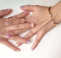 Ice cream inspired nails @onnu_nail #springnails