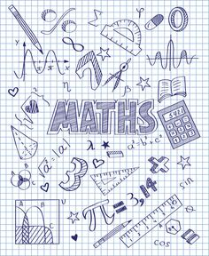 Photo about Vector illustration of Hand drawn Mathematics set. Illustration of hand, pencil, divider - 49433711 Binder Covers, Notebook Covers, School Notebooks, Decorate Notebook, School Subjects, Cover Pages, Doodle Art, Mathematics, Back To School