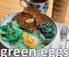 Real green eggs (and ham)