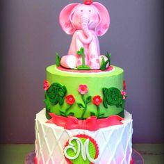Sarahs Cakes Pink Elephant 1Year Birthday Cake
