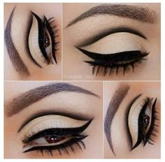 another example of cut crease, except for this one doesn't connect with the rest of the eye