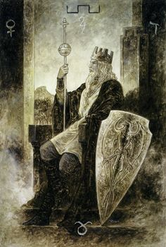 IV. The Emperor - The Labyrinth Tarot by Luis Royo