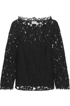 ALICE by Temperley Eros cotton-blend lace top | NET-A-PORTEr This is a dream!
