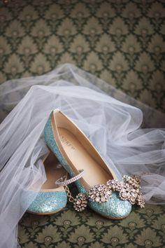 Glittery blue flats- my something blue :) Blue Bridal Shoes, Wedding Shoes, Wedding Veils, Blue Flats, Blue Shoes, Wedding Hair Accessories, Fashion Accessories, Old Fashioned Love, Something Blue