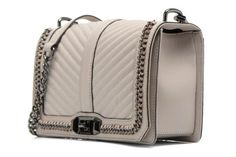 Rebecca Minkoff Woven chain Love crossbody Handbags front view