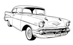 57 Chevy Bel Air Drawing
