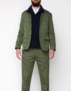 Apolis Standard Issue Civilian Blazer In Olive #madeinUSA $248