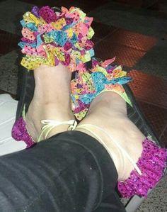 Flip Flops, Sandals, Shoes, Women, Fashion, White Dress, Felting, Accessories, Clothing