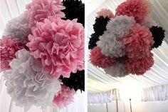 Google Image Result for http://www.babylifestyles.com/images/parties/modern-pink-black-girl-shower-party/modern-elegant-pink-black-baby-shower-party-tissue-poms-chandeliers.jpg