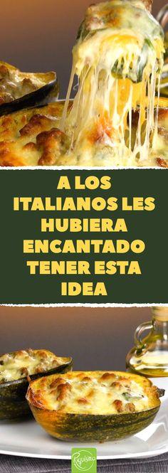 Auf diese köstliche Idee wären Italiener gerne selbst gekommen - Comidas fáciles - Las recetas más prácticas y fáciles Diet Recipes, Vegetarian Recipes, Cooking Recipes, Mozzarella, Easy Family Dinners, Food And Drink, Low Carb, Pasta, Meals