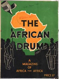 The cover of the first Drum magazine / March 1951, South Africa