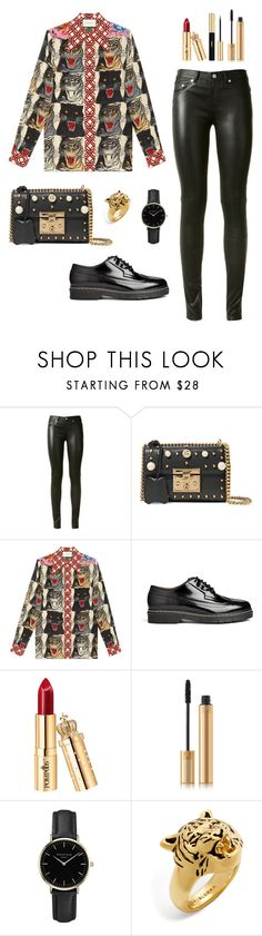 """""""Untitled #295"""" by bajka2468 ❤ liked on Polyvore featuring Yves Saint Laurent, Gucci, Joseph, ROSEFIELD and BaubleBar"""