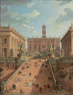 Giovanni Paolo Panini (1691 - 1765) Campidoglio, Roma