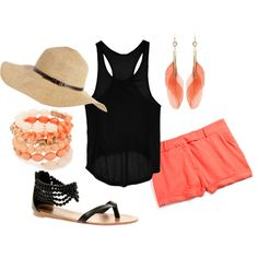 cute outfit for a zoo trip or a walk in the park or beach!!!