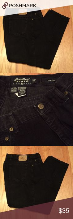 Eddie Bauer jeans! Size 18. Like new! 100% cotton. Eddie Bauer jeans! Size 18. Like new! 100% cotton in black. Perfect! Eddie Bauer Jeans Straight Leg