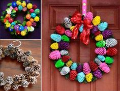 Pine Cone Wreath The WHOot