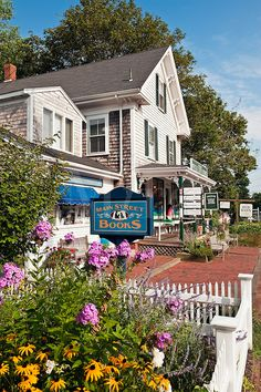 Quaint shops along Main Street - Orleans, Cape Cod, Massachusetts