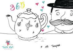 188/365: #teapot I fell in love with this original english teapot at #royalalbert - and this english gentleman heart it too... #365doodleswithjohannafritz #illustration #tessarathillustration #doodle ##worldofartists #dailydoodle #illustrationoftheday #illustratorsofinstagram #teatime #royal #wip #dailydoodle #illustrationgram #onmydesk #instagallery #instaart #doodleart #zeicjnen #iamcreative #illustratorlife #skizze #teekanne #english @byjohannafritz #gentleman #sketch #instaartist…