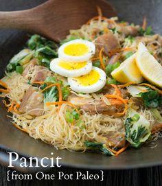 One-Pot Paleo's Pork Pancit (Stir Fry Noodles) and a SIGNED COPY for you!